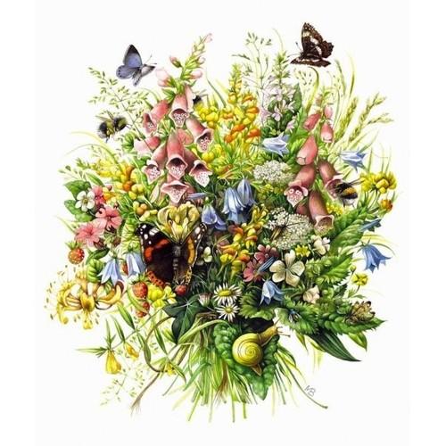 Grille point de croix bouquet de fleurs mb 10 achat et vente for Bouquet de fleurs 10