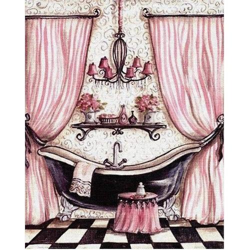 grille point de croix salle de bain rose achat et vente rakuten. Black Bedroom Furniture Sets. Home Design Ideas