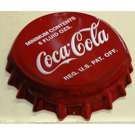 grosse plaque publicitaire coca cola capsule en relief et embouti neuf deco usa bar diner loft. Black Bedroom Furniture Sets. Home Design Ideas