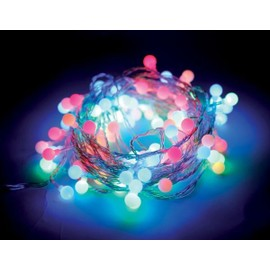 guirlande lumineuse 8 m boules 100 leds multicolores illumination de no l animation. Black Bedroom Furniture Sets. Home Design Ideas