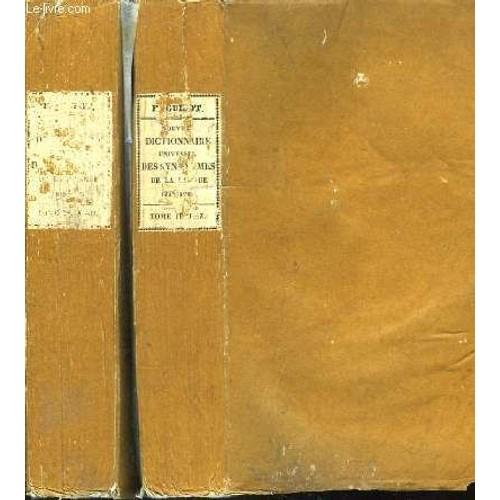 nouveau dictionnaire universel des synonymes de la langue fran aise en 2 tomes. Black Bedroom Furniture Sets. Home Design Ideas