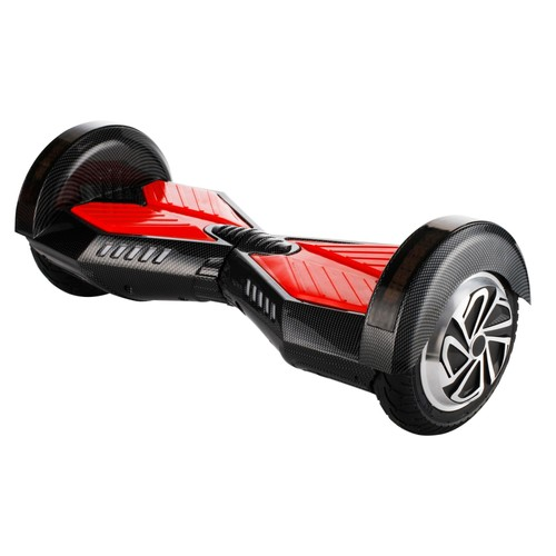 gyropode hoverboard scooter electrique auto quilibrage 8 0 puce noir patins rouges self. Black Bedroom Furniture Sets. Home Design Ideas