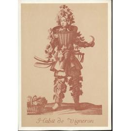 Habit De Vigneron, Reproduction D'une Gravure De Style X V I I I �me Repr�sentant Vraisemblablement Un D�guisement