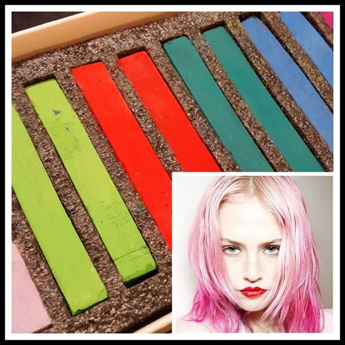 hair chalk 12 craies pour cheveux tout type tout public coloration teinture temporaire diy. Black Bedroom Furniture Sets. Home Design Ideas