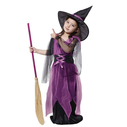 Halloween costume d guisement fille sorci re cosplay emilie mariage taille 3 4 ans - Deguisement halloween fille 3 ans ...