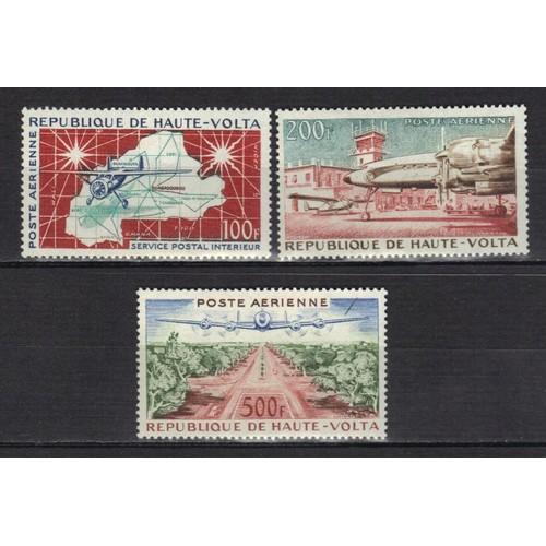 072dc9511d haute-volta-poste-aerienne-1961-avions-carte-aeroport-de-ouagadougou-vue -aerienne-des-champs-elysees-a-ouagadougou-serie-entiere-de-3-timbres-a-800-f-neufs-  ...