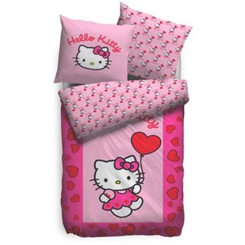 Hello kitty parure de lit sweetheart 135 x 200 cm pas cher - Parure de lit bebe hello kitty ...