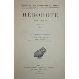 Histoires Livre Vi �rato de H�rodote
