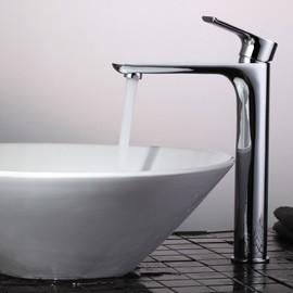 homelodyrobinet de lavabo bec haut chrom grand mitigeur pour vasque robinetterie salle de bain - Mitigeur Haut Vasque
