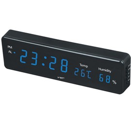 Horloge Digitale, Reveiller Digital Led, Horloge Led Murale A Pile, Horloge  Murale Numerique, [Thermomètre + Humidomètre], Eu, Vert