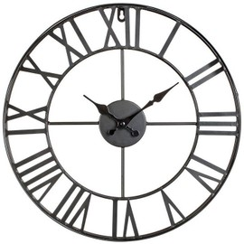 horloge murale design vintage metal 40 cm achat et vente. Black Bedroom Furniture Sets. Home Design Ideas