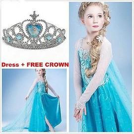 Hot robe d guisement costume la reine des neiges frozen elsa anna enfant - Robe anna reine des neiges ...