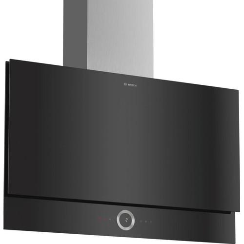 Hotte Décorative Inclinée 90cm 730m3/H Noir Dwf97rv60 Série 8 on