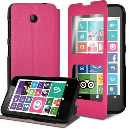 Housse Coque Etui S-View Fonction Support Couleur Rose Fushia Pour Nokia  Lumia 635 ec7cb8dcd96