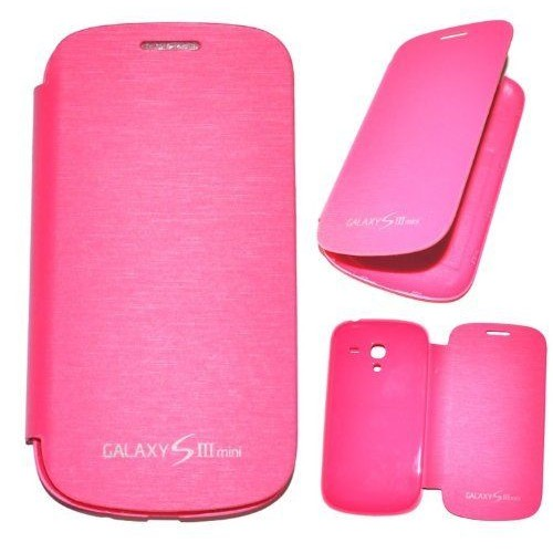 Housse coque etui smart cover cache batterie rose pour for Housse samsung galaxy s3