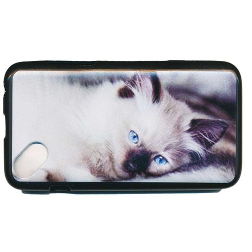 housse coque gel de protection pour wiko sunset 2 motif chat. Black Bedroom Furniture Sets. Home Design Ideas
