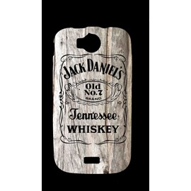 Housse Coque Gel Silicone Wiko Cink Peax Jack Daniels Bois Clair Vintage + Film