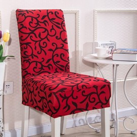 housse cuverture de chaise rouge noir achat et vente. Black Bedroom Furniture Sets. Home Design Ideas