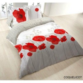 housse de couette 200x200 coquelicot pas cher priceminister. Black Bedroom Furniture Sets. Home Design Ideas