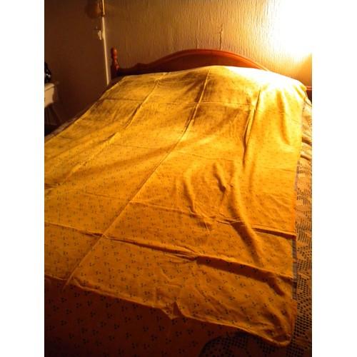 Housse de couette r versible 1 cot jaune 1 cot motifs carreaux bleux lit 1 personne 220x140cm - Housse de couette carreaux ...