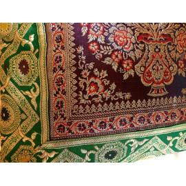 housse de coussin maharaja en brocart de soie coussin oriental nord de l 39 inde 41cm x 41cm. Black Bedroom Furniture Sets. Home Design Ideas
