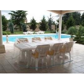 Housse De Protection Table De Jardin Rectangulaire + Chaises ...