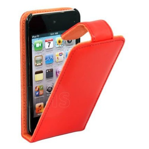 Housse etui coque en cuir rouge pour ipod touch 4 4g for Housse ipod touch