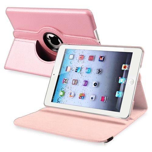 housse etui coque pochette cuir rose rotation 360 pour tablette apple ipad mini. Black Bedroom Furniture Sets. Home Design Ideas
