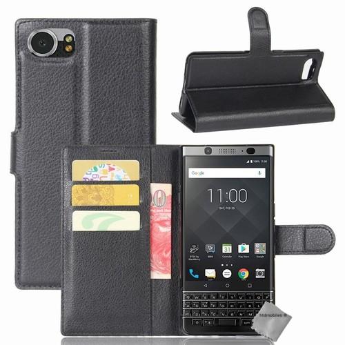 housse etui coque pochette portefeuille pour blackberry keyone film ecran noir. Black Bedroom Furniture Sets. Home Design Ideas