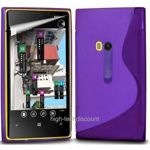 Housse etui coque pochette silicone gel mauve pour nokia for Photo ecran lumia 920