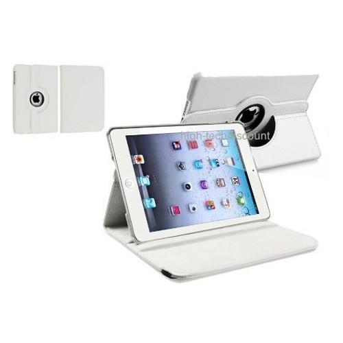 housse etui coque pochette simili cuir blanc pour apple ipad mini film. Black Bedroom Furniture Sets. Home Design Ideas