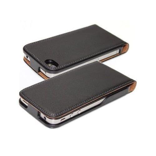 Housse etui coque pochette vrai cuir v ritable pour iphone for Housse iphone 4s