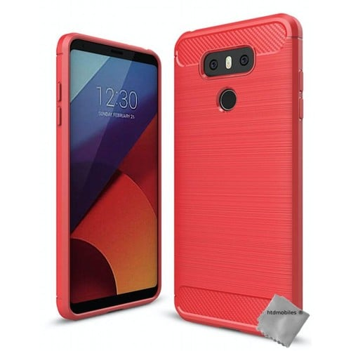Housse etui coque silicone gel carbone pour lg g6 verre for Housse lg g6