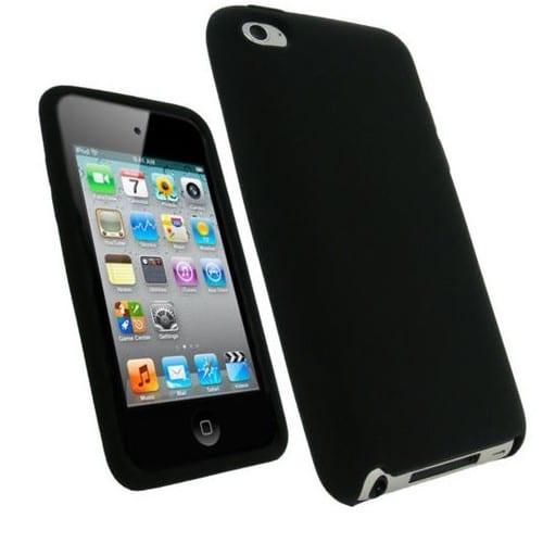Housse etui coque silicone noir pour ipod touch 4 4g for Housse ipod touch