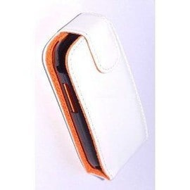 Housse Etui Couleur Blanche Samsung S5560 Player 5 Interieur Orange