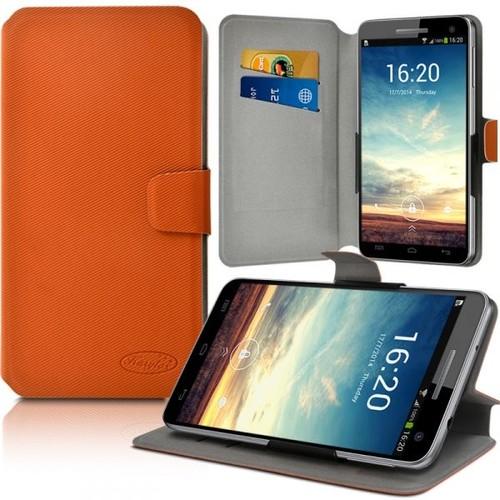 Housse Etui Porte Carte Support Universel L Couleur Orange Pour Acer Liquid X1