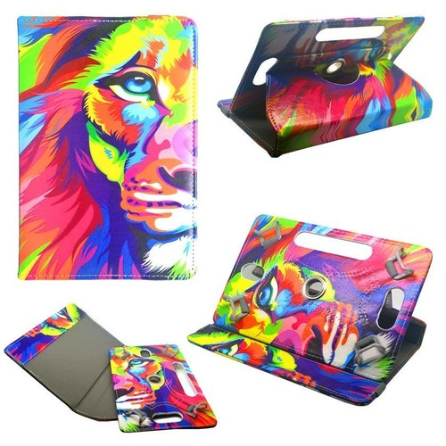 housse etui tablette takara rotative 360 7 pouces motif lion. Black Bedroom Furniture Sets. Home Design Ideas