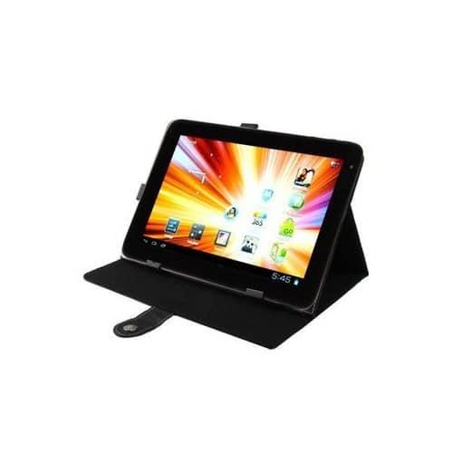 housse tablette 10 1 pouces protection universelle simili cuir noir. Black Bedroom Furniture Sets. Home Design Ideas