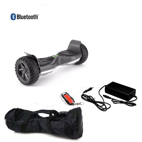hoverboard tout terrain noir 8 5 39 39 avec bluetooth achat. Black Bedroom Furniture Sets. Home Design Ideas