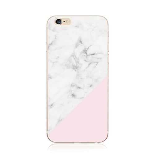 coque iphone 7 silicone marbre rose