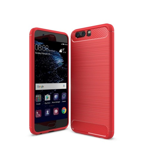 huawei p10 carbone rouge film verre tremp coque housse etui en silicone gel souple. Black Bedroom Furniture Sets. Home Design Ideas