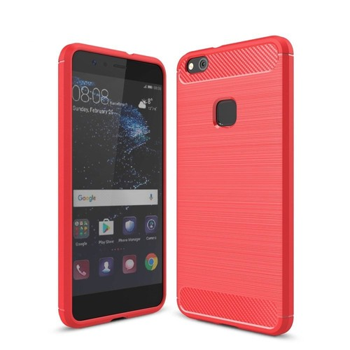 Huawei p10 lite carbone rouge film verre tremp coque for Housse huawei p10 lite