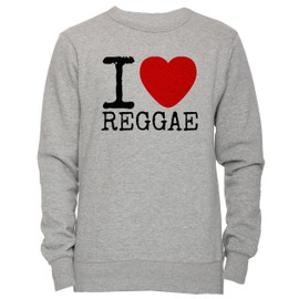 5415f5d6bc i-love-reggae-unisexe-homme-femme-sweat-shirt-jersey-pull-over-gris-toutes-les-tailles-men-39-s-women-39-s-jumper-sweatshirt-pullover-grey-all-sizes-  ...
