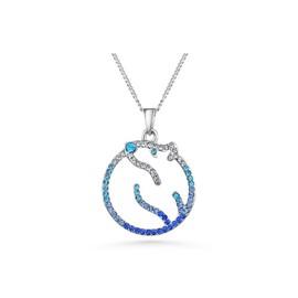 Pendentif Ours Polaire Cristal Swarovski Elements Bleu Et Plaqué Rhodium - Blue  Pearls Cry F210 L Bleu 3de1f91e61ce