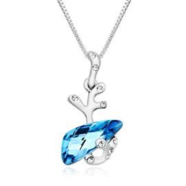 Pendentif Cristal Swarovski Elements Bleu Et Plaqué Rhodium - Blue Pearls  Cry E277 J 67a7d47f4d20