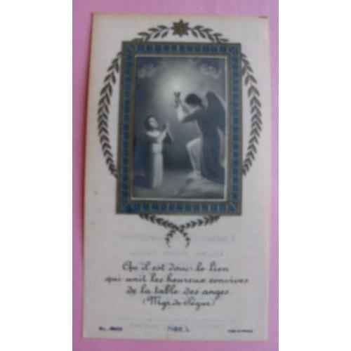 image pieuse ancienne 1935 souvenir communion la roche sur yon. Black Bedroom Furniture Sets. Home Design Ideas