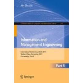 Information And Management Engineering de Min Zhu