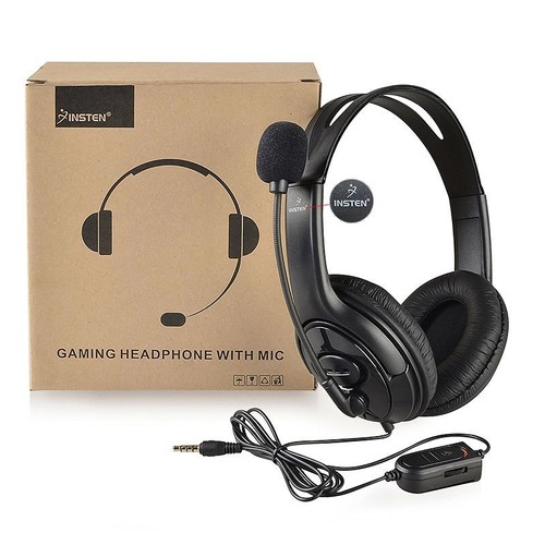 insten casque couteur gamers gaming headset st r o avec micro et r glage volume pour sony. Black Bedroom Furniture Sets. Home Design Ideas