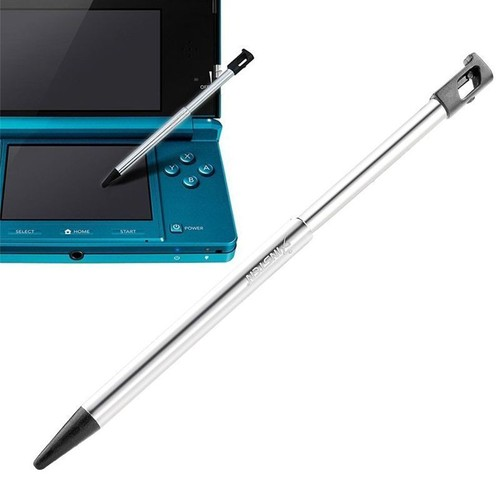 Insten stylet r tractable noir argent pour cran tactile console de jeux nintendo 3ds non - Console de jeux portable tactile ...