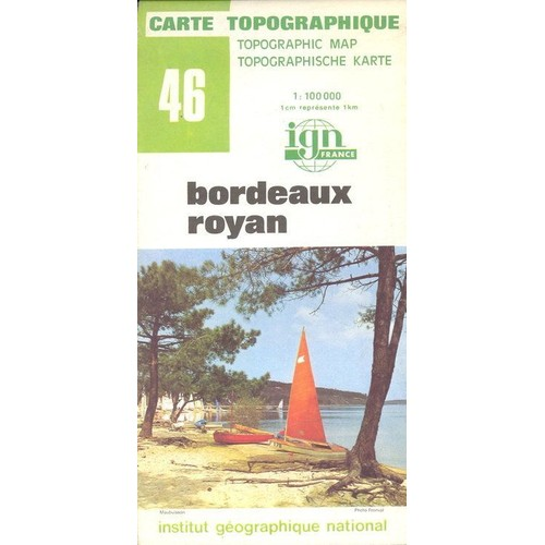 Carte Bordeaux Royan.Carte Topographique 1 100000 Bordeaux Royan